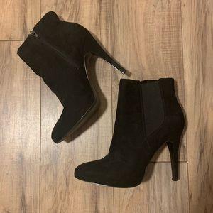 NINE WEST Black Heeled Booties | 8